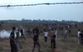 """עימותים בין פלסטינים לצה""""ל בדרום הארץ"""