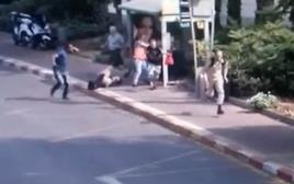 תיעוד מהפיגוע ברעננה
