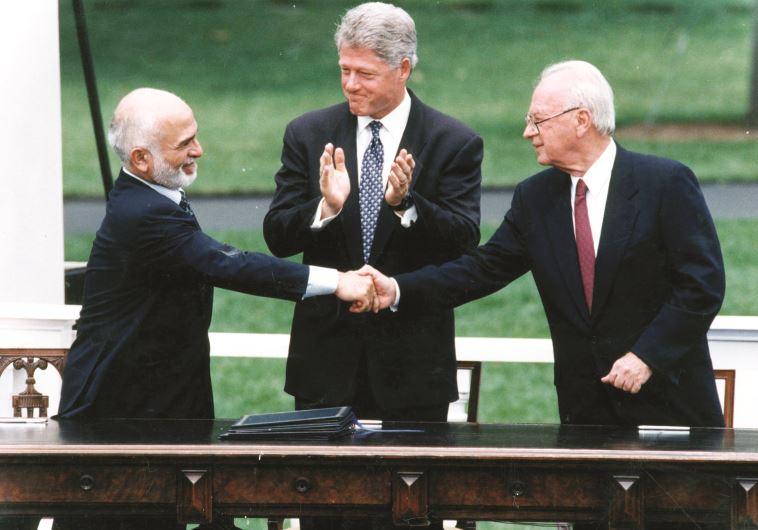 הסכם שלום עם ירדן, יצחק רבין (צילום: ראובן קסטרו)