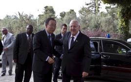 """נשיא המדינה ראובן ריבלין ומזכ""""ל האו""""ם באן קי מון"""
