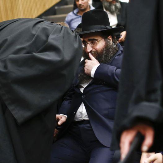הרב פינטו במשפטו (צילום: מגד גוזני, פלאש 90)