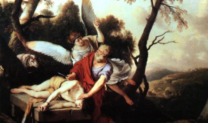 אברהם בעקדת יצחק, ציור: לורן דה להיר, 1650