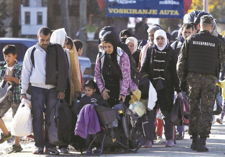 פליטים בסרביה. צילום: רויטרס