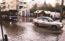 רכב, חורף, גשם