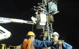 חברת החשמל עובדת על תיקון הפסקת חשמל