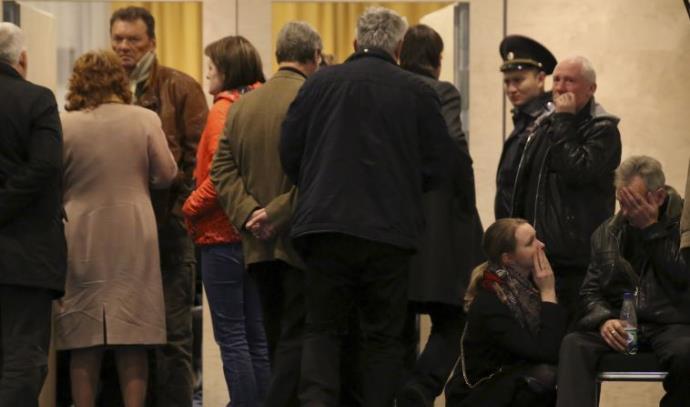 קרובי משפחות ההרוגים בהתרסקות המטוס הרוסי