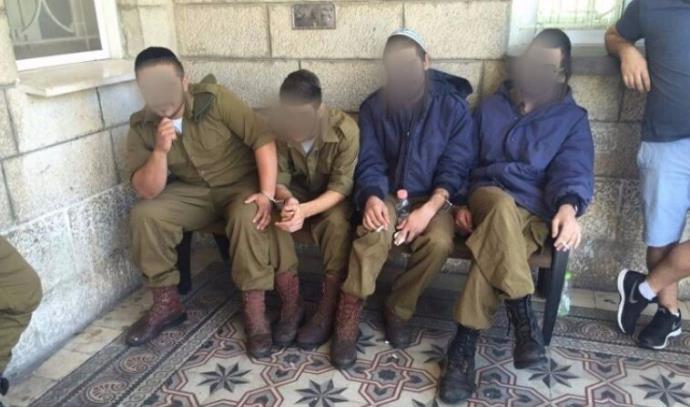 החיילים מנצח יהודה העצורים בחשד להכאת מחבלים