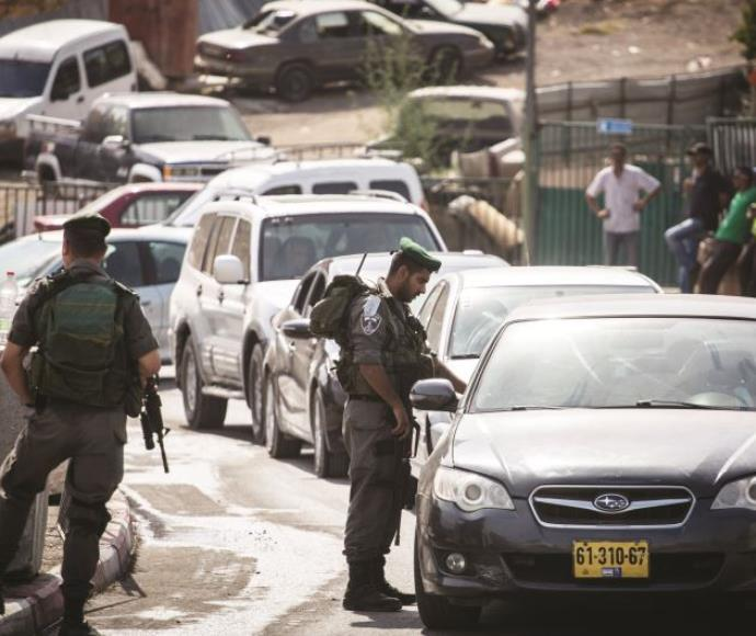 עמדת בידוק בשכונת צור באהר במזרח ירושלים
