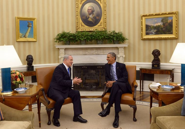 """רה""""מ בנימין נתניהו בפגישה עם נשיא ארה''ב ברק אובמה בבית בלבן"""