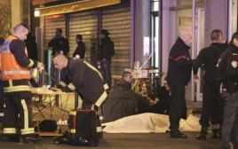 זירת הפיגוע במסעדה בפריז