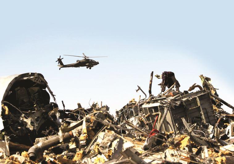 שברי המטוס הרוסי שהופל בסיני, צילום: רויטרס