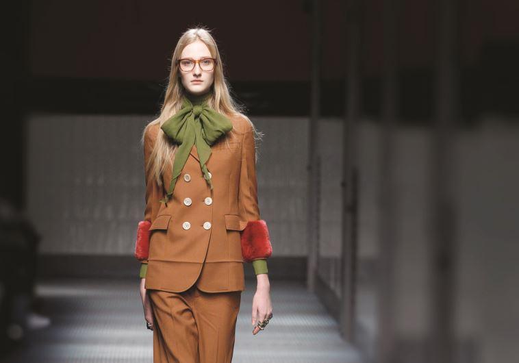 חליפה מתוך תצוגת האופנה של גוצ׳י, אופנה