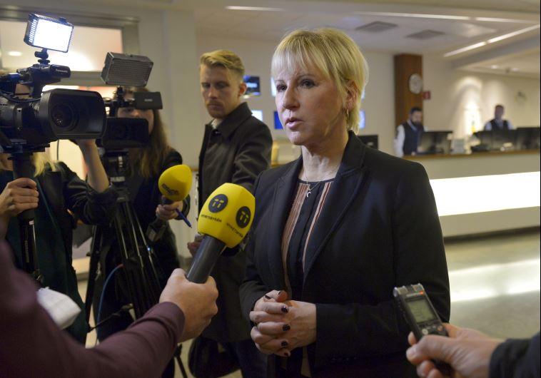 מרגוט וולסטרום שרת החוץ השוודית צילום: רויטרס