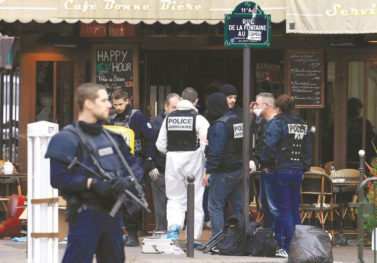 משטרה בפריז אחרי מתקפת הטרור