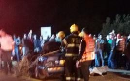 זירת תאונת הדרכים בפקיעין