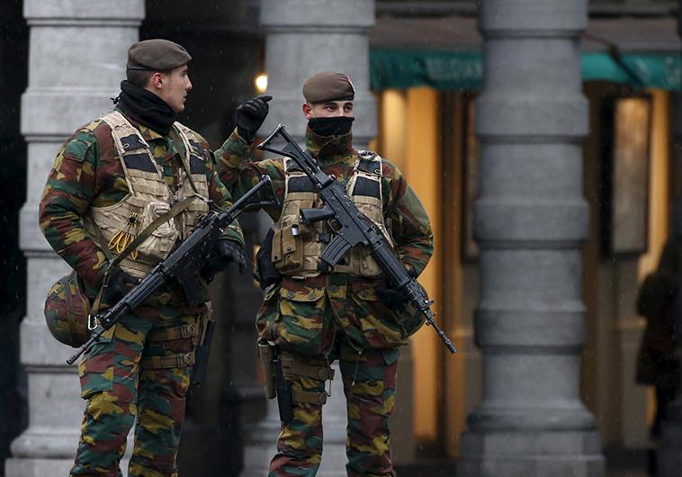 כוננות ביטחונית בבריסל. צילום: רויטרס