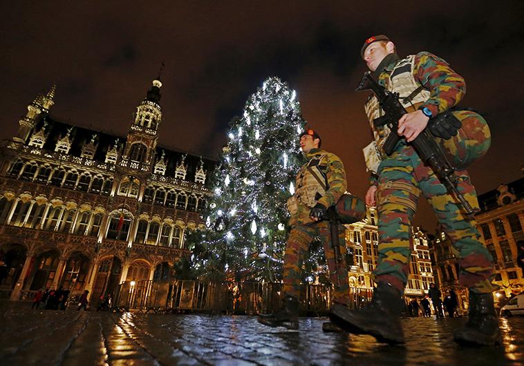 התיירות צנחה ב-50%. עוצר בבריסל. צילום: רויטרס