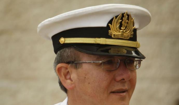 האלוף אליעזר מרום בזמן שהיה מפקד חיל הים