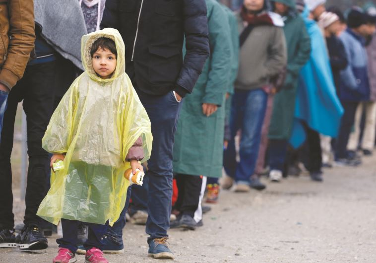 פליטים מהמזרח התיכון ביוון. צילום: רויטרס