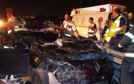 תאונה בכביש 6, רכב פגע בסוס