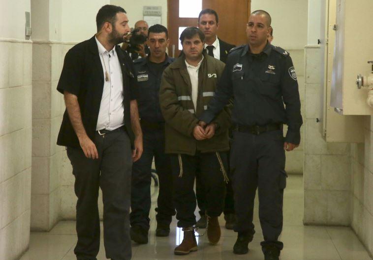 יוסף חיים בן דוד, הנאשם המרכזי ברצח מוחמד אבו חדיר, בכניסה להכרעת הדין