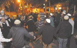 הפגנה למען העצורים בחשד לרצח בדומא