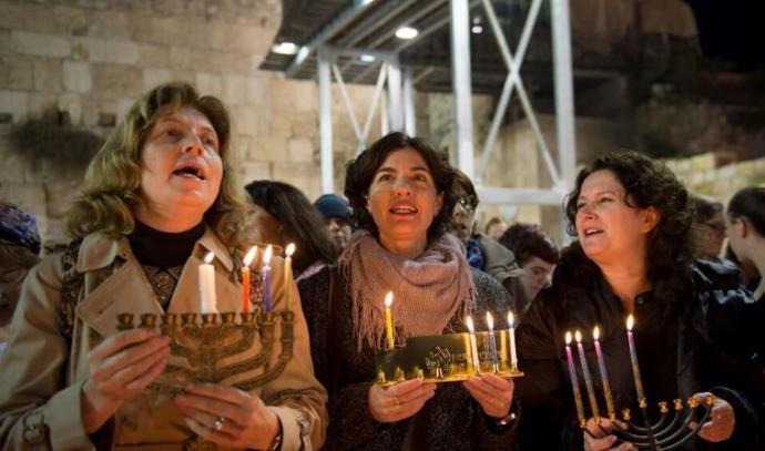 טקס הדלקת הנרות של נשות הכותל: ענת הופמן, תמר זנדברג ומיכל רוזין