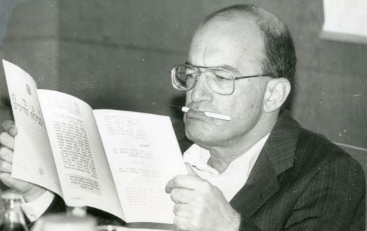 יוסי שריד בכנסת, 1992 (צילום: פלאש 90)