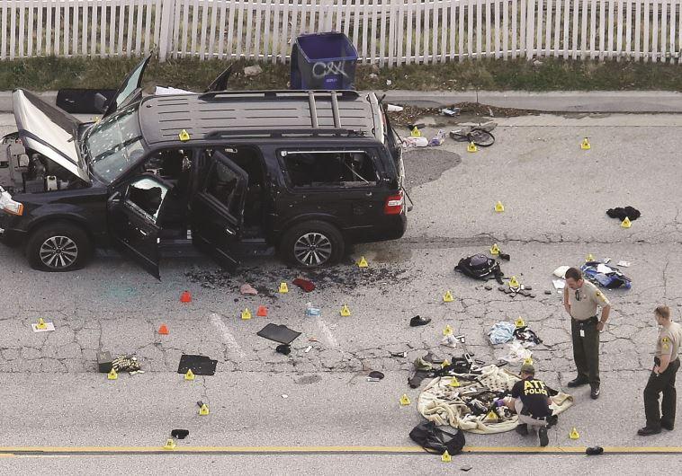 מתקפת הטרור הקשה ביותר על אדמת אמריקה מאז 11 בספטמבר 2001. זירת הטבח בסן ברנרדינו (צילום: רויטרס)