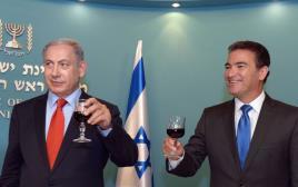 ראש הממשלה בנימין נתניהו עם יוסי כהן, ראש המוסד הבא
