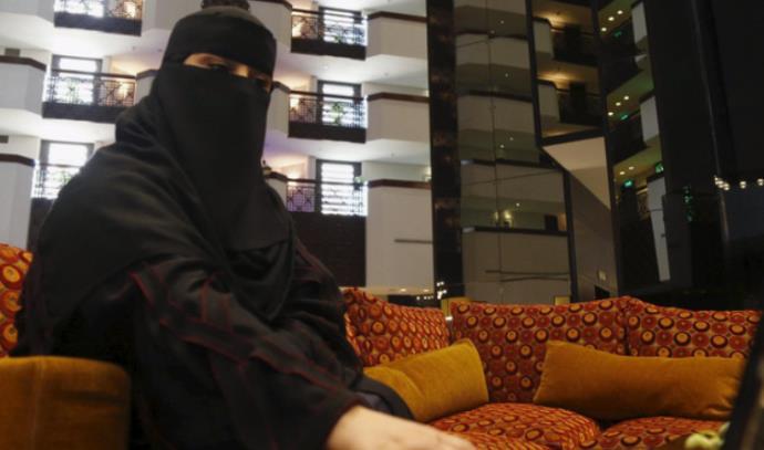 אחת הנשים המועמדות בבחירות המקומיות בערב הסעודית