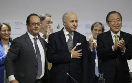 לורן פביוס, פרנסואה הולנד ובאן קי מון בוועידת האקלים
