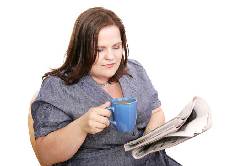 אשה בעלת עודף משקל