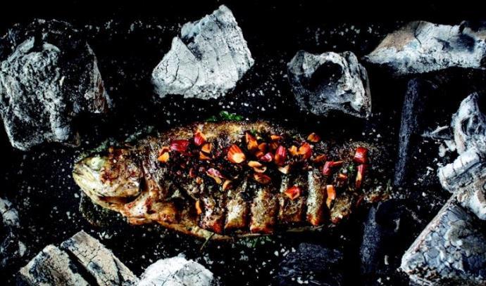"""מנת דג הפורל במסעדת """"האחים"""""""