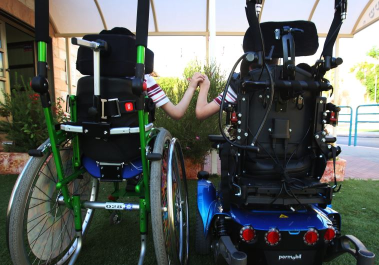 ילדים בעלי מוגבלות בכסא גלגלים
