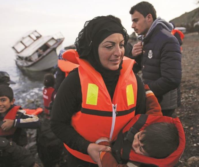 מהגרים סורים בחופי יוון