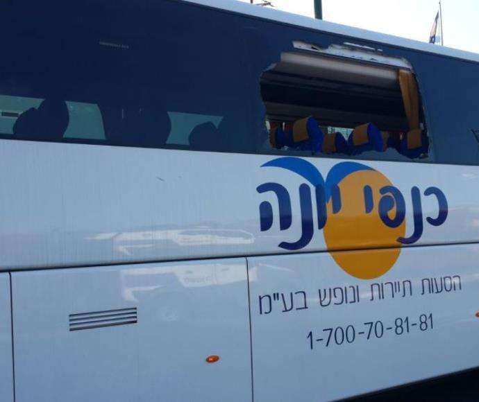"""יידוי אבנים לעבר אוטובוס של """"שוברים שתיקה"""""""