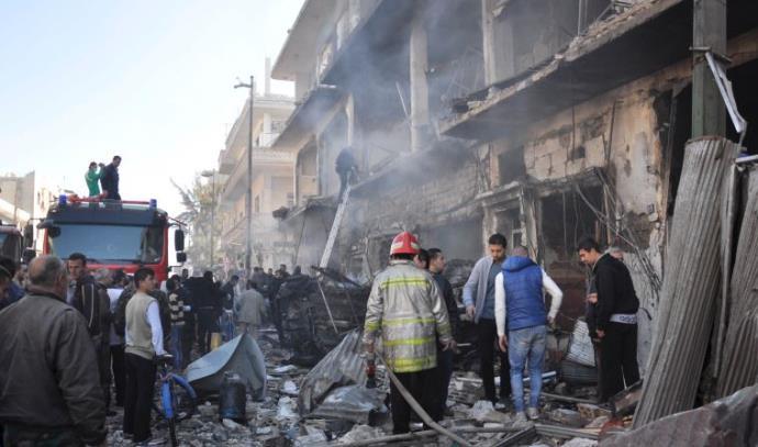 הרס בעיר חומס בסוריה