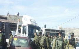 פיגוע דריסה במחסום חווארה