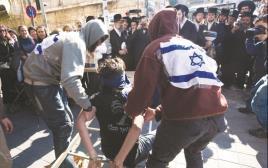 """הפגנה בירושלים של אנשי ימין נגד עינויים בחקירות שב""""כ"""