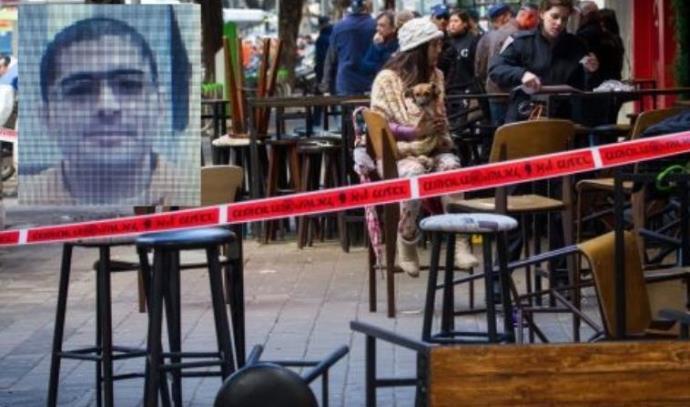 זירת פיגוע הירי בתל אביב ותמונת המחבל החשוד