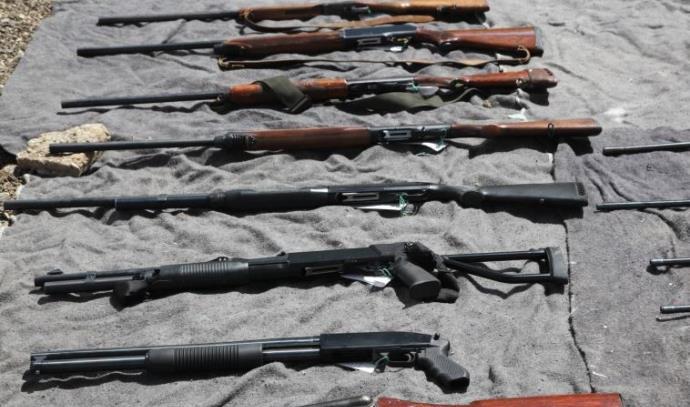 """כלי נשק שנתפסו ע""""י משטרת כרמיאל"""
