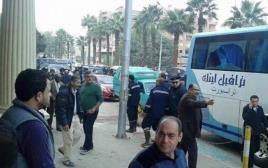 זירת האירוע בקהיר