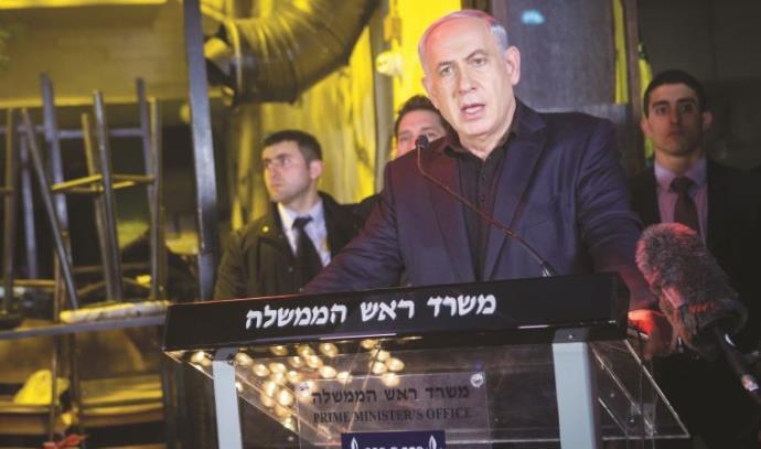 ראש הממשלה בזירת הפיגוע בתל אביב
