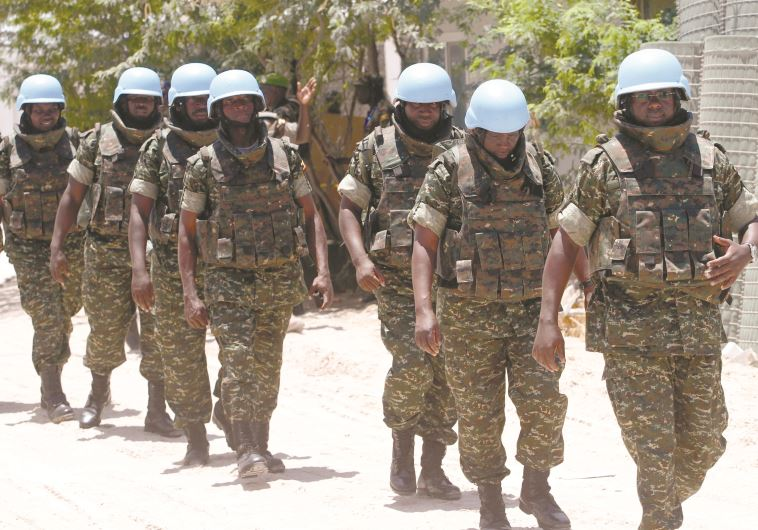"חיילי או""ם באפריקה. צילום: רויטרס"
