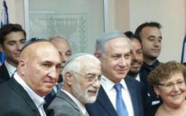 ראש הממשלה עם מרים פרץ, אילן מורנו ואלי בן שם