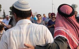 תפילה משותפת ליהודים ומוסלמים בגוש עציון. ארכיון