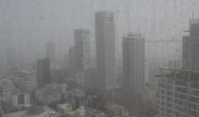 סופת אבק בתל אביב