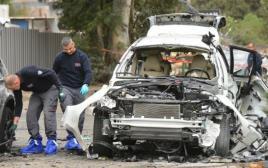 פיצוץ רכב בגבול רמת גן-גבעתיים