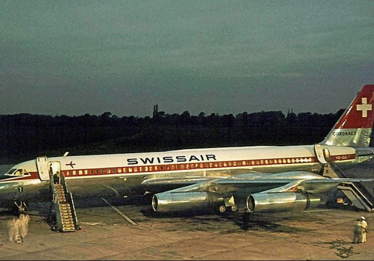 """מטוס מהדגם שפוצץ בטיסת סוויסאייר 330 על ידי אש""""ף"""
